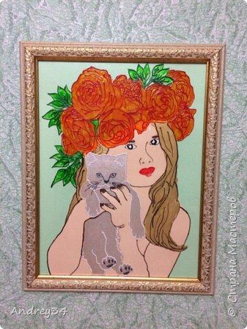 """Картина """"Девушка-роза!"""" фото 4"""