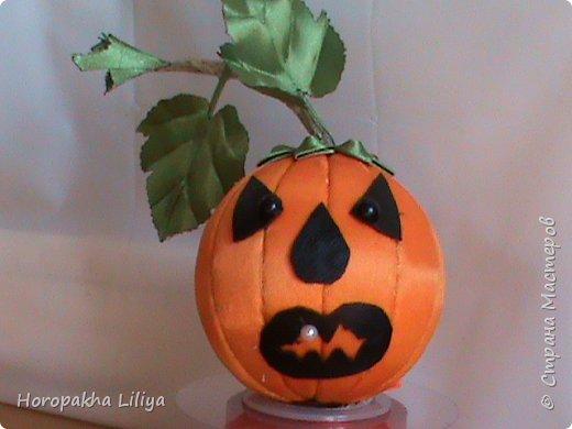 Готовимся к Хеллоуину - хеллоуинская тыква - канзаши  1 фото 2
