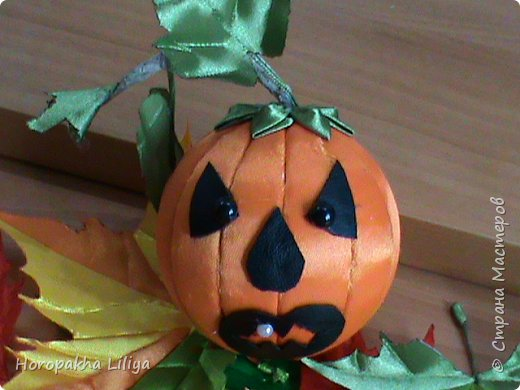 Готовимся к Хеллоуину - хеллоуинская тыква - канзаши  1 фото 1
