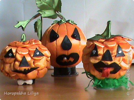 Хеллоуинская тыковка из подручных материаллов, подарочный вариант фото 2