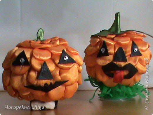 Хеллоуинская тыковка из подручных материаллов, подарочный вариант фото 1