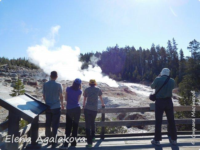 Продолжаю делится впечатлениями от поездки в Йе́ллоустон (Yellowstone National Park)— международный биосферный заповедник, объект Всемирного Наследия ЮНЕСКО, первый в мире национальный парк (основан 1 марта 1872 года). Находится в США, на территории штатов Вайоминг, Монтана и Айдахо. Парк знаменит многочисленными гейзерами и другими геотермическими объектами, богатой живой природой, живописными ландшафтами. ( взято из Википедии )  Мы останавливались в кемпингах в палатках. Парк произвел на нас огромное впечатление. Очень хочется поделится с вами красотой которую я увидела. В один фоторепортаж трудно вместить все увиденное поэтому это уже третий и будут еще...  фото 3