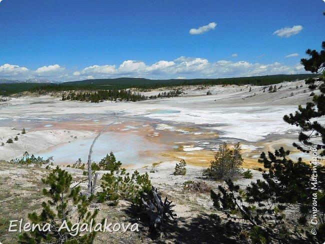 Продолжаю делится впечатлениями от поездки в Йе́ллоустон (Yellowstone National Park)— международный биосферный заповедник, объект Всемирного Наследия ЮНЕСКО, первый в мире национальный парк (основан 1 марта 1872 года). Находится в США, на территории штатов Вайоминг, Монтана и Айдахо. Парк знаменит многочисленными гейзерами и другими геотермическими объектами, богатой живой природой, живописными ландшафтами. ( взято из Википедии )  Мы останавливались в кемпингах в палатках. Парк произвел на нас огромное впечатление. Очень хочется поделится с вами красотой которую я увидела. В один фоторепортаж трудно вместить все увиденное поэтому это уже третий и будут еще...  фото 30