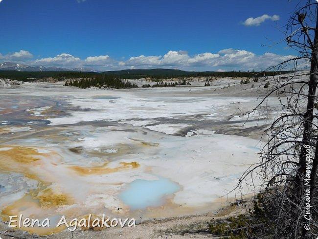Продолжаю делится впечатлениями от поездки в Йе́ллоустон (Yellowstone National Park)— международный биосферный заповедник, объект Всемирного Наследия ЮНЕСКО, первый в мире национальный парк (основан 1 марта 1872 года). Находится в США, на территории штатов Вайоминг, Монтана и Айдахо. Парк знаменит многочисленными гейзерами и другими геотермическими объектами, богатой живой природой, живописными ландшафтами. ( взято из Википедии )  Мы останавливались в кемпингах в палатках. Парк произвел на нас огромное впечатление. Очень хочется поделится с вами красотой которую я увидела. В один фоторепортаж трудно вместить все увиденное поэтому это уже третий и будут еще...  фото 31