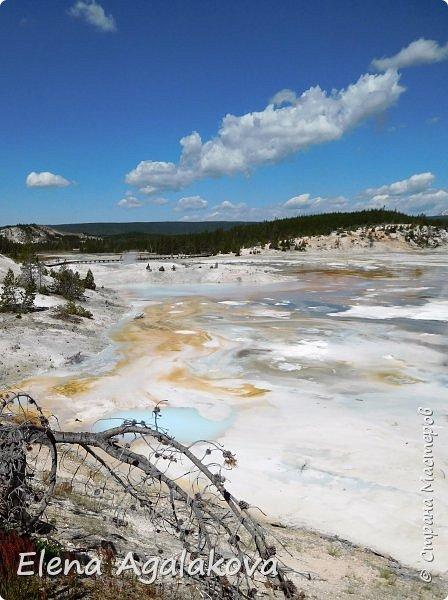 Продолжаю делится впечатлениями от поездки в Йе́ллоустон (Yellowstone National Park)— международный биосферный заповедник, объект Всемирного Наследия ЮНЕСКО, первый в мире национальный парк (основан 1 марта 1872 года). Находится в США, на территории штатов Вайоминг, Монтана и Айдахо. Парк знаменит многочисленными гейзерами и другими геотермическими объектами, богатой живой природой, живописными ландшафтами. ( взято из Википедии )  Мы останавливались в кемпингах в палатках. Парк произвел на нас огромное впечатление. Очень хочется поделится с вами красотой которую я увидела. В один фоторепортаж трудно вместить все увиденное поэтому это уже третий и будут еще...  фото 1