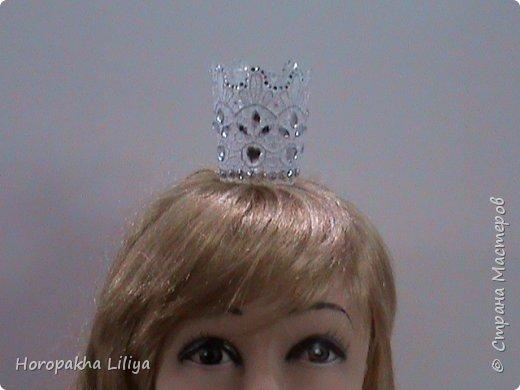 Новогодняя корона для наших принцесс, несложный вариант. фото 2