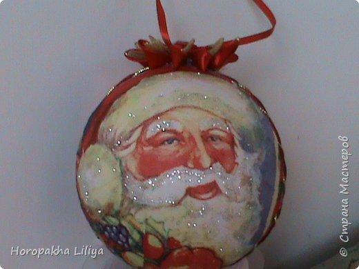 Новогодний декоративный коллекционный шар с рисунком, в стиле канзаши