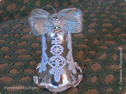 Новогодние колокольчики в стиле канзаши фото 2