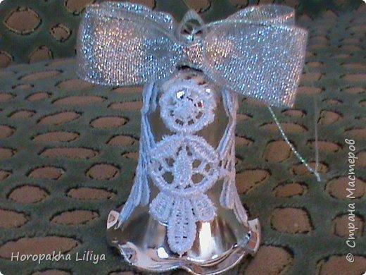 Новогодние колокольчики в стиле канзаши фото 6