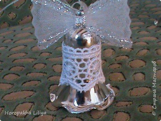 Новогодние колокольчики в стиле канзаши фото 7