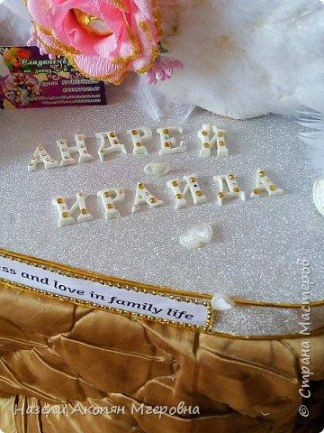 Свадебные лебеди из конфет  фото 3