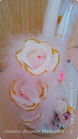 Свадебные лебеди из конфет  фото 2