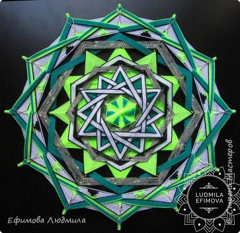 Плетёная мандала Око Бога 16-ти лучевая. Диаметр 40см. Сплетениа на усиление Вашей связи с Высшими Силами и на нахождение и активного продвижения по Вашему духовному пути. А также на привлечение в вашу жизнь творчества. 40см диаметр. фото 99