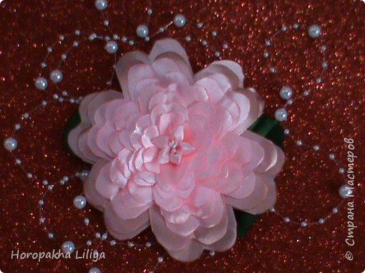 Экзотический цветок необыкновенной красоты в стиле канзаши