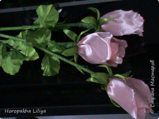 Розы к празднику влюбленных в стиле канзаши фото 2