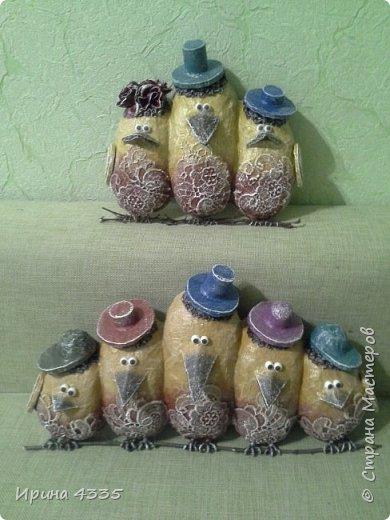 Воробьи, объемное панно для детской