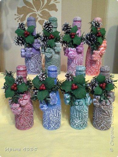Декор бутылки в подарок
