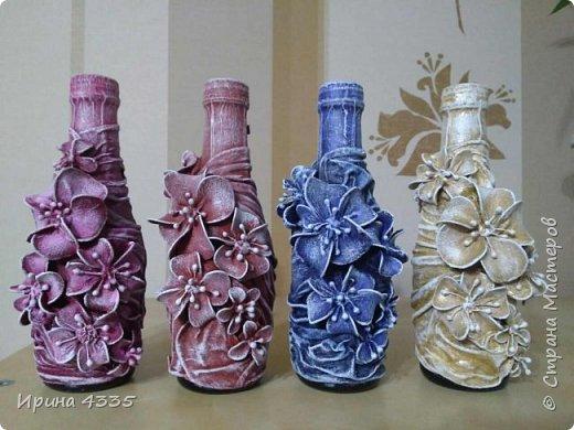Декор бутылки в подарок фото 1