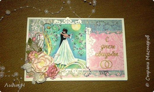 Сделана для поздравления молодой девушки , которая вступала в брак ))). Внутри карман с конвертом для денег. фото 1