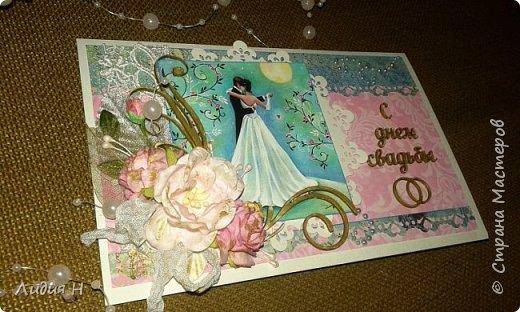 Сделана для поздравления молодой девушки , которая вступала в брак ))). Внутри карман с конвертом для денег. фото 2