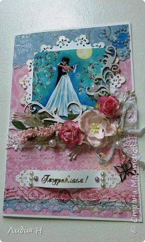 Сделана для поздравления молодой девушки , которая вступала в брак ))). Внутри карман с конвертом для денег. фото 3