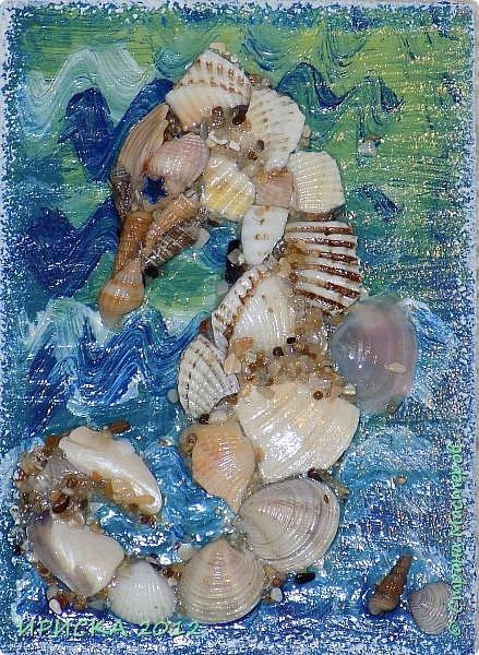 """Привем всем гостям моей странички!!!  Моя новая серия карточек в морской теме: """" Морской конёк"""". Вдохновитель моих карточек Ирина Самурайчик http://stranamasterov.ru/node/1091826?tid=656 , я увидела её морских коней и захотела повторить. Выбирает себе одну карточку Эл, одна останется дома. фото 4"""
