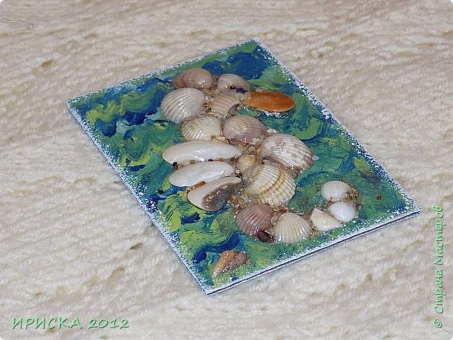 """Привем всем гостям моей странички!!!  Моя новая серия карточек в морской теме: """" Морской конёк"""". Вдохновитель моих карточек Ирина Самурайчик http://stranamasterov.ru/node/1091826?tid=656 , я увидела её морских коней и захотела повторить. Выбирает себе одну карточку Эл, одна останется дома. фото 12"""