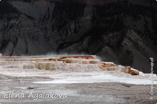 Продолжаю делится впечатлениями от поездки в Йе́ллоустон (Yellowstone National Park)— международный биосферный заповедник, объект Всемирного Наследия ЮНЕСКО, первый в мире национальный парк (основан 1 марта 1872 года). Находится в США, на территории штатов Вайоминг, Монтана и Айдахо. Парк знаменит многочисленными гейзерами и другими геотермическими объектами, богатой живой природой, живописными ландшафтами. ( взято из Википедии ) Мы останавливались в кемпингах в палатках. Парк произвел на нас огромное впечатление. Очень хочется поделится с вами красотой которую я увидела. В один фоторепортаж трудно вместить все увиденное поэтому это уже четвертый и будут еще...  фото 14
