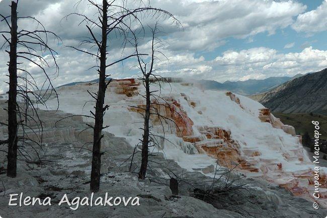 Продолжаю делится впечатлениями от поездки в Йе́ллоустон (Yellowstone National Park)— международный биосферный заповедник, объект Всемирного Наследия ЮНЕСКО, первый в мире национальный парк (основан 1 марта 1872 года). Находится в США, на территории штатов Вайоминг, Монтана и Айдахо. Парк знаменит многочисленными гейзерами и другими геотермическими объектами, богатой живой природой, живописными ландшафтами. ( взято из Википедии ) Мы останавливались в кемпингах в палатках. Парк произвел на нас огромное впечатление. Очень хочется поделится с вами красотой которую я увидела. В один фоторепортаж трудно вместить все увиденное поэтому это уже четвертый и будут еще...  фото 15