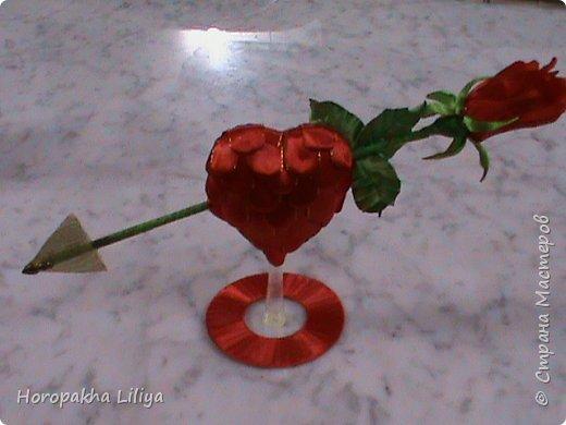 Сувенир ко дню Св. Валентина в стиле канзаши