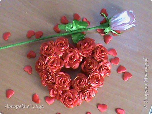 Сердце c  розами ко дню Св.Валентина!