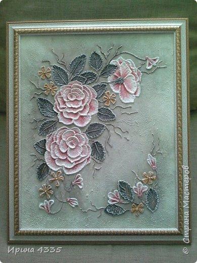 Цветы, объемная живопись на шпаклевке