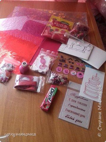 Подарочки приехали ко мне от Ирочки http://stranamasterov.ru/user/323834. Как обычно смогла удивить и порадовать. Спасибо тебе за это. Подарочки СУПЕР! Все-все очень-очень понравилось. В одной посылке подарки по трем поводам.  фото 2