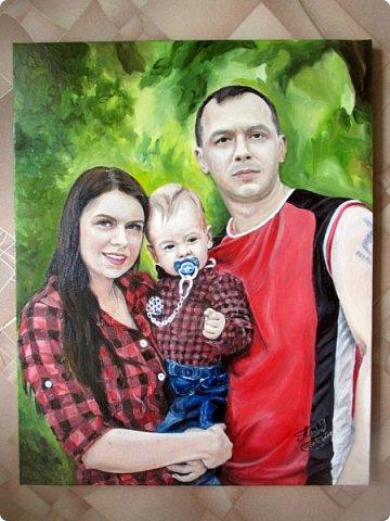 Семейный портрет. Масло, холст на подрамнике. Формат 40*50.  фото 3