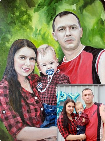 Семейный портрет. Масло, холст на подрамнике. Формат 40*50.  фото 19