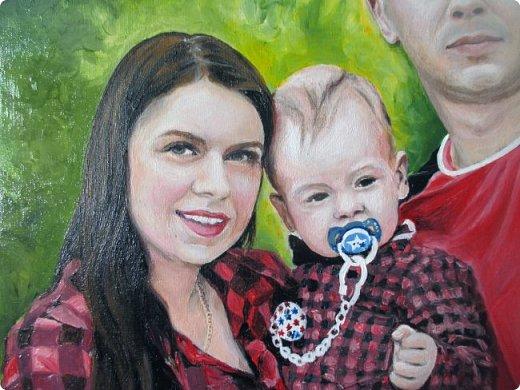 Семейный портрет. Масло, холст на подрамнике. Формат 40*50.  фото 2