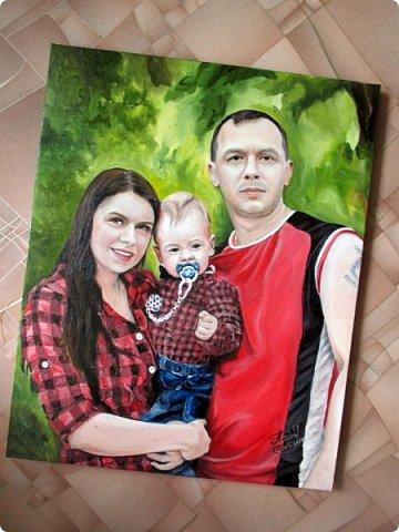 Семейный портрет. Масло, холст на подрамнике. Формат 40*50.  фото 5