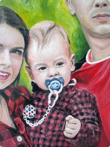 Семейный портрет. Масло, холст на подрамнике. Формат 40*50.  фото 6