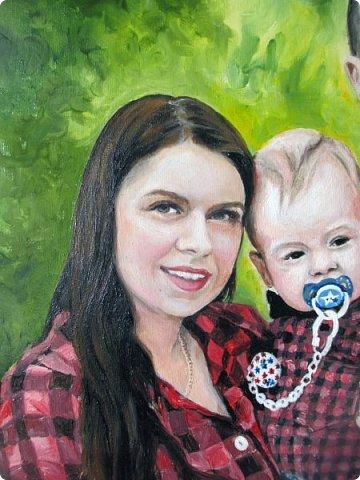 Семейный портрет. Масло, холст на подрамнике. Формат 40*50.  фото 7