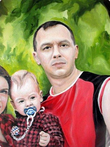 Семейный портрет. Масло, холст на подрамнике. Формат 40*50.  фото 8
