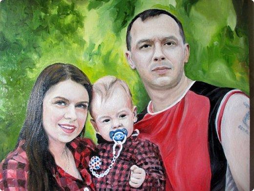 Семейный портрет. Масло, холст на подрамнике. Формат 40*50.  фото 9
