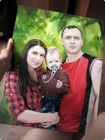 Семейный портрет. Масло, холст на подрамнике. Формат 40*50.  фото 18