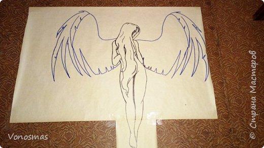 Вторая выставочная работа. Всем привет.  Не судите строго моего ангела, крылья делал в первый раз. фото 2