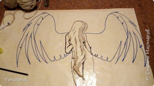 Вторая выставочная работа. Всем привет.  Не судите строго моего ангела, крылья делал в первый раз. фото 3