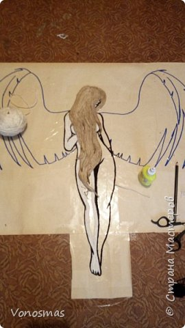 Вторая выставочная работа. Всем привет.  Не судите строго моего ангела, крылья делал в первый раз. фото 6