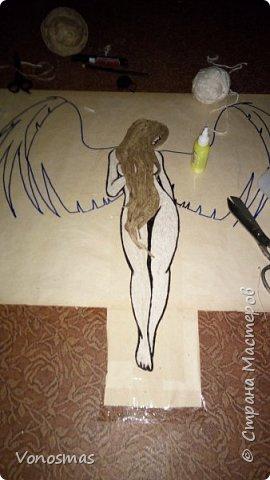 Вторая выставочная работа. Всем привет.  Не судите строго моего ангела, крылья делал в первый раз. фото 8