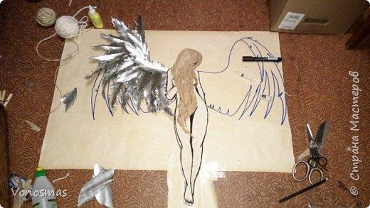 Вторая выставочная работа. Всем привет.  Не судите строго моего ангела, крылья делал в первый раз. фото 11