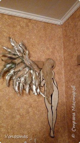 Вторая выставочная работа. Всем привет.  Не судите строго моего ангела, крылья делал в первый раз. фото 12