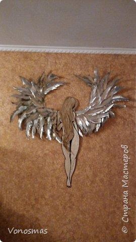 Вторая выставочная работа. Всем привет.  Не судите строго моего ангела, крылья делал в первый раз. фото 13