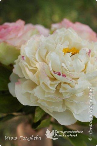 Букет из роз и пионов.Холодный фарфор. фото 4